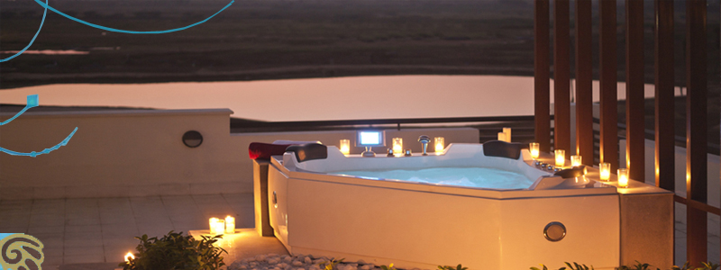Jacuzzi in Model Villa Terrace